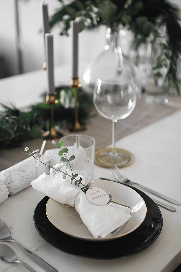 Holiday Decor: Christmas Dinner Table #tischeindecken