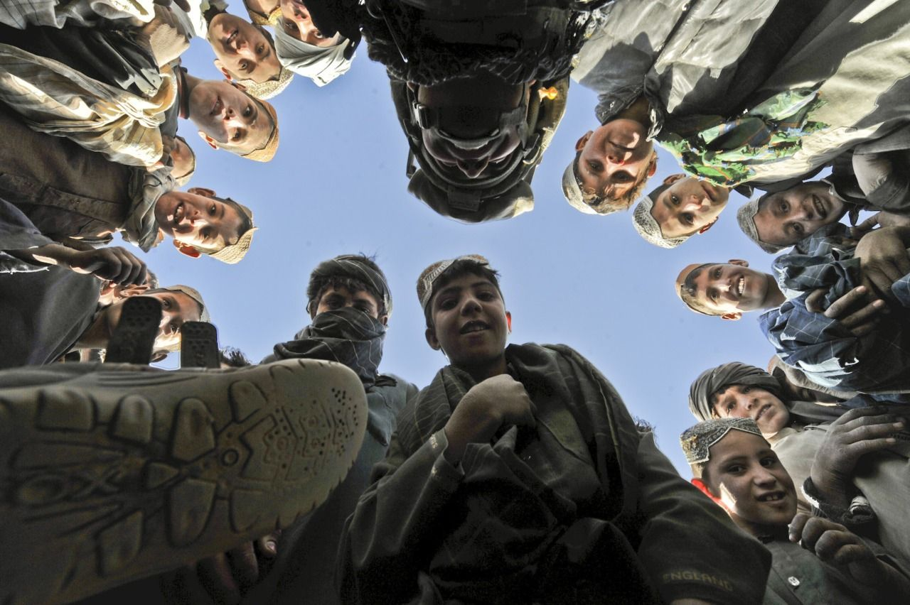 Afghan Kids Circle Selfies Dod Photo By Tech Sgt Efren Lopez U S Air Force Combat Lens Photo