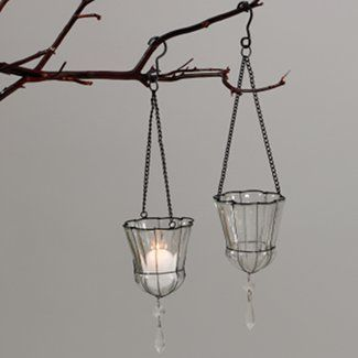 Marvelous Glass Votive Hanging Candle | How Fun Are These Hanging Votive Candle  Holders Add A Little