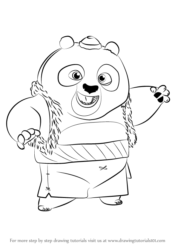 Learn How To Draw Bao From Kung Fu Panda 3 Kung Fu Panda 3 Step By Step Kung Fu Panda 3 Kung Fu Panda Kung Fu