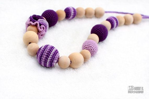 Crochet Nursing Necklace  Teething necklace by MagazinIL on Etsy, $24.00