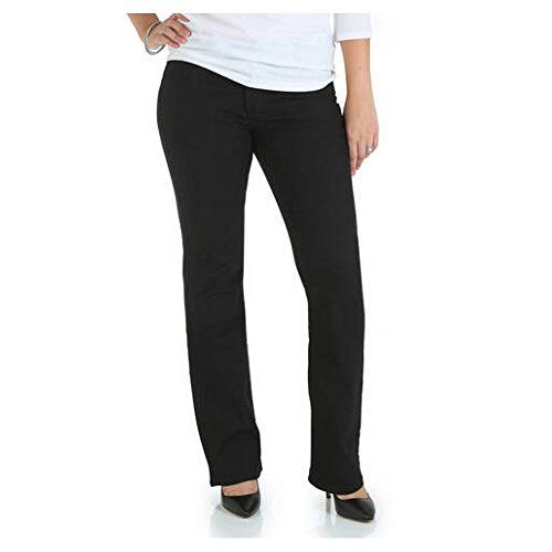 5189b26e606 Riders By Lee Womens Classic Fit Straight Leg Jeans Regular Tall Petite 12  Black    To view further for this item
