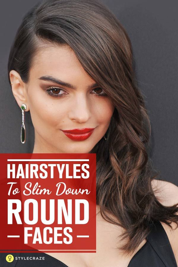 25 Hairstyles To Slim Down Round Faces Hairstyles Pinterest