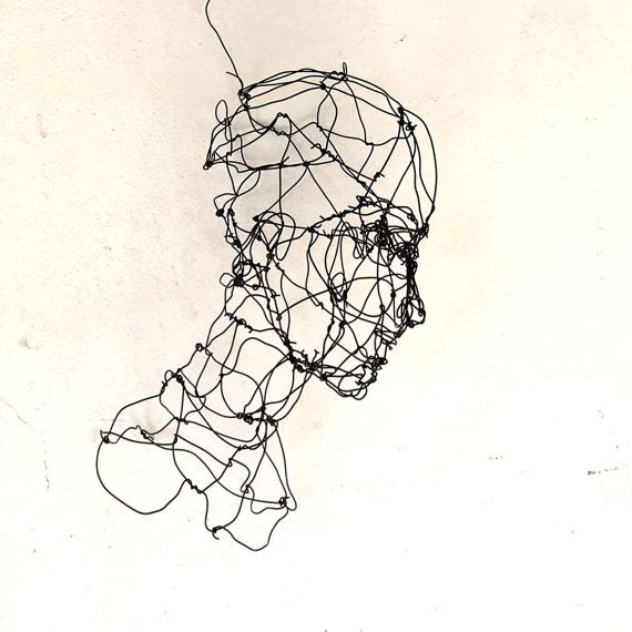 3d Wire Sculpture Woman Bust Sculpture Wire By Morphingpot Wire