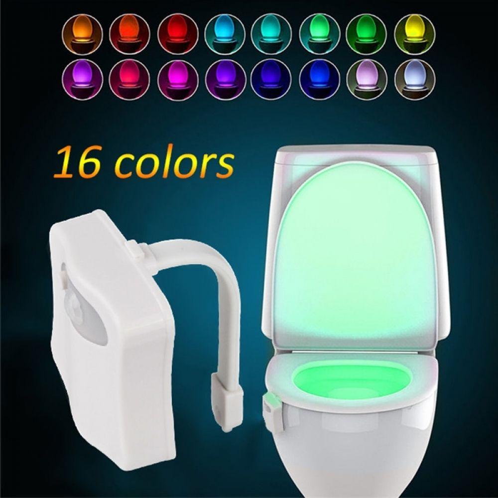 Motion Sensor Automatic Seat LED Light up Toilet Sensing Colors Lamp Energy Save