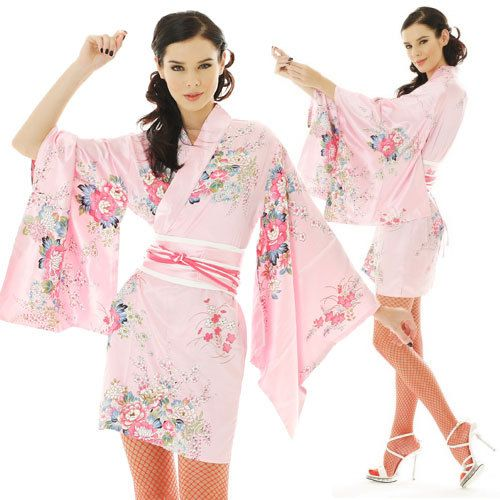 3635c4a1ebf Sexy short japanese woman geisha yukata kimono dress with sakura flower  print. Top quality