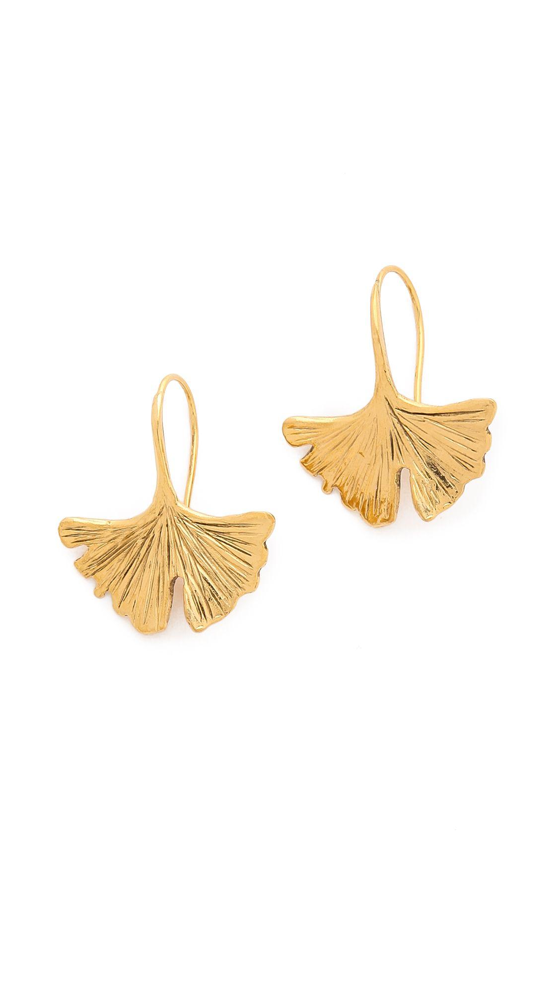 ginko earrings by aurelie bidermann