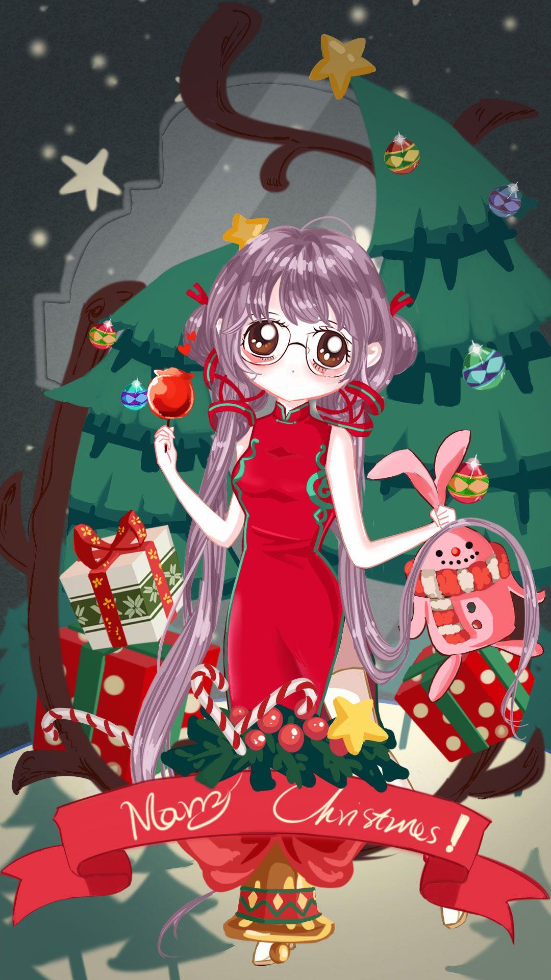 Merry Christmas Anime.Merry Christmas Anime Christmas In 2019 Anime Chibi