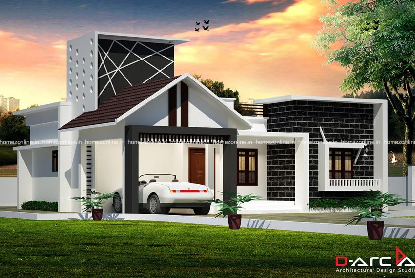 One Floor House Plan With Elegant Outdoor Front View New Model House Simple Bungalow House Designs One Floor House Plans