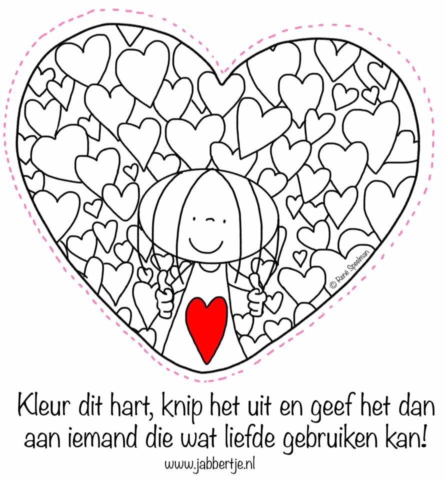 Pin By Anna Kulka On Jabbertje Valentine Coloring Pages Valentines School Valentine Coloring
