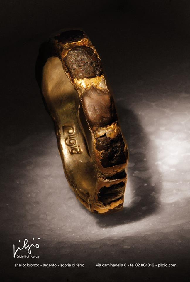 f41afeac20 fedina : bronzo - interno in argento palladio - scorie di ferro | PILGIO'