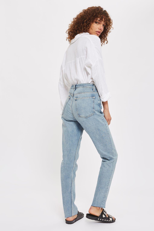 cd2d87974df TALL Bleach Raw Hem Straight Leg Jeans - Jeans - Clothing - Topshop