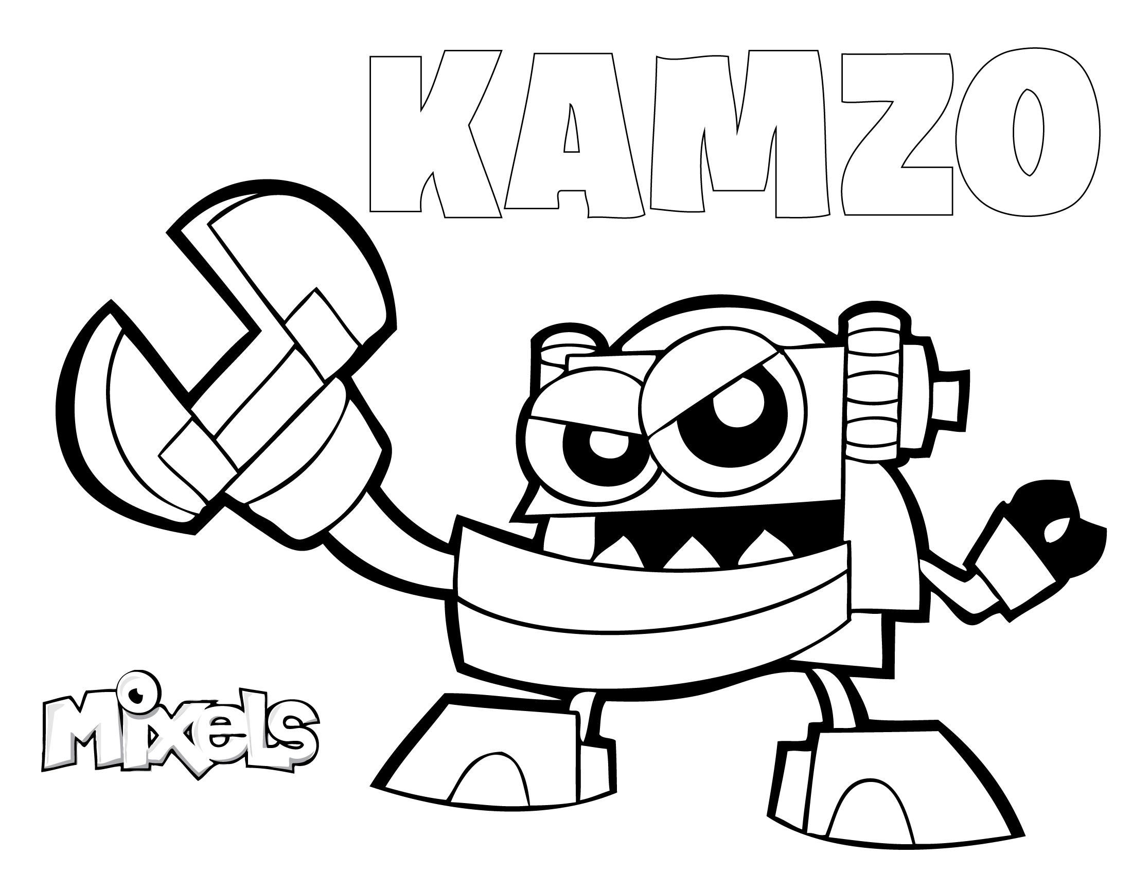 Mixels Kamzo Coloring Pages Educative Printable In 2020 Lego Coloring Pages Coloring Pages Lego Coloring