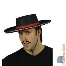 36a3e6ae3c99d BLACK TRADITIONAL SPANISH HAT One Size FAST POST Mexican Mens Fancy Dress