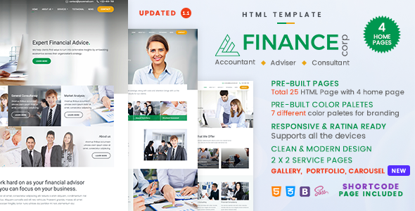 Finance corp a financial services business consulting template finance corp a financial services business consulting template template website and business wajeb Choice Image