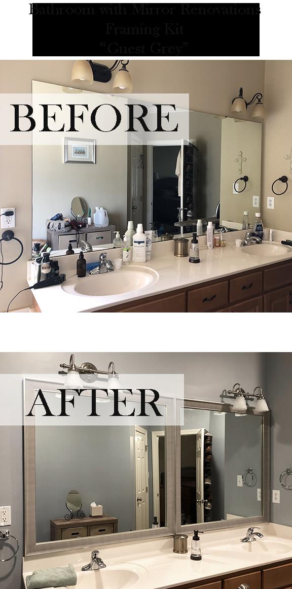 5020 Guest Grey Mirror Frame Bathroom Mirrors Diy Bathroom Inspiration Colors Bathroom Mirror Frame