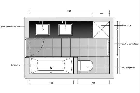10 Plans Pour Une Mini Salle De Bains Plans Petite Salle De Bain Plan Salle De Bain Salle De Bain 6m2