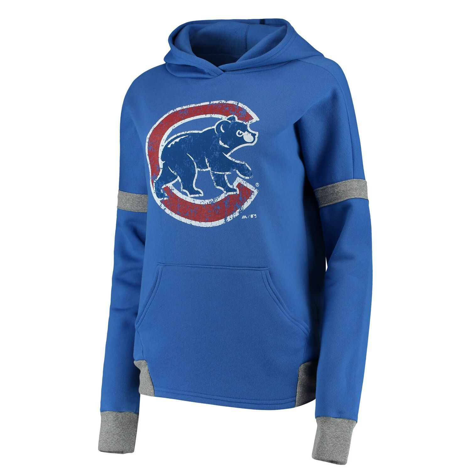 Women S Majestic Threads Royal Gray Chicago Cubs Iconic Fleece Pullover Hoodie Fleece Pullover Hoodies Pullover Hoodie [ 1500 x 1500 Pixel ]