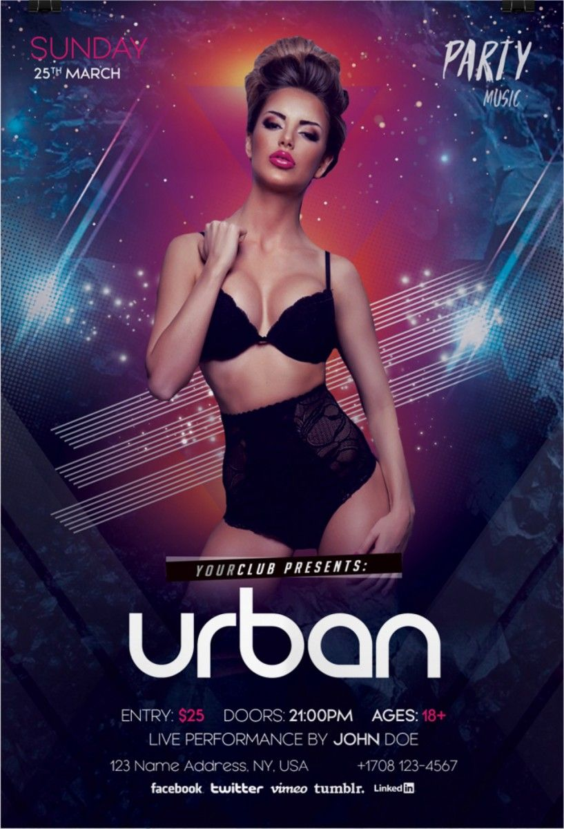 Urban Party – Download Free PSD Flyers Template | Free Flyer
