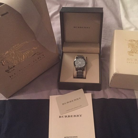 a463b9439fe Men's Burberry Gunmetal finish Watch BU906 I have original watch box,  authenticity card, owners manual, gift box (beat up) and gift bag.