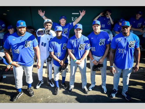 Cowboys At Dirk S Heroes Celebrity Baseball Game With Images Nfl Football Season Baseball Games Hero