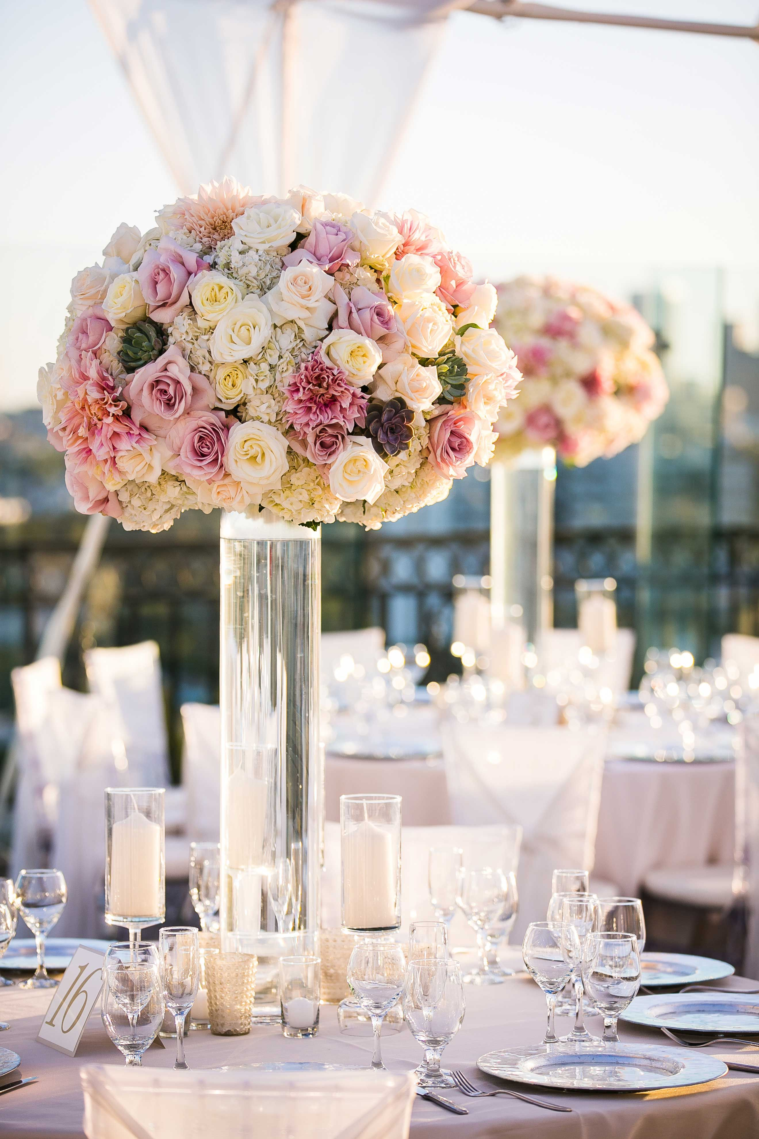 Vibrant Indian Wedding Ceremony Modern Rooftop Reception Indian