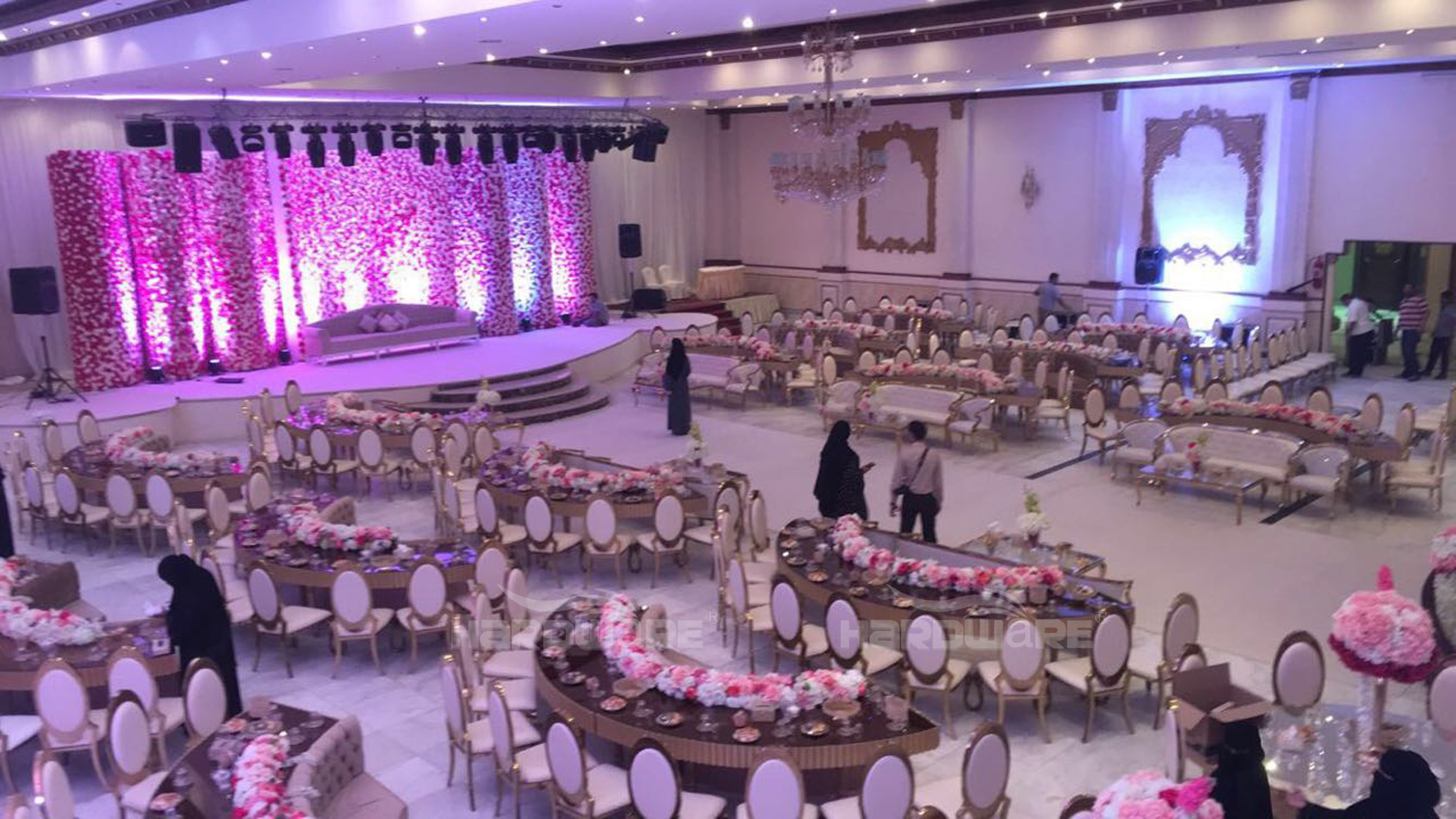 Half Moon Round Wedding Table Event C Shape Table Dubai Wedding Round Wedding Tables Wedding Table Half Moon Table