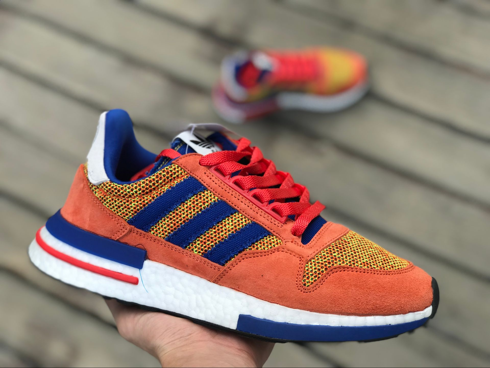 "a188e0d141d Dragon Ball Z x Adidas ZX 500 RM ""GOKU"" is NOW LIVE"