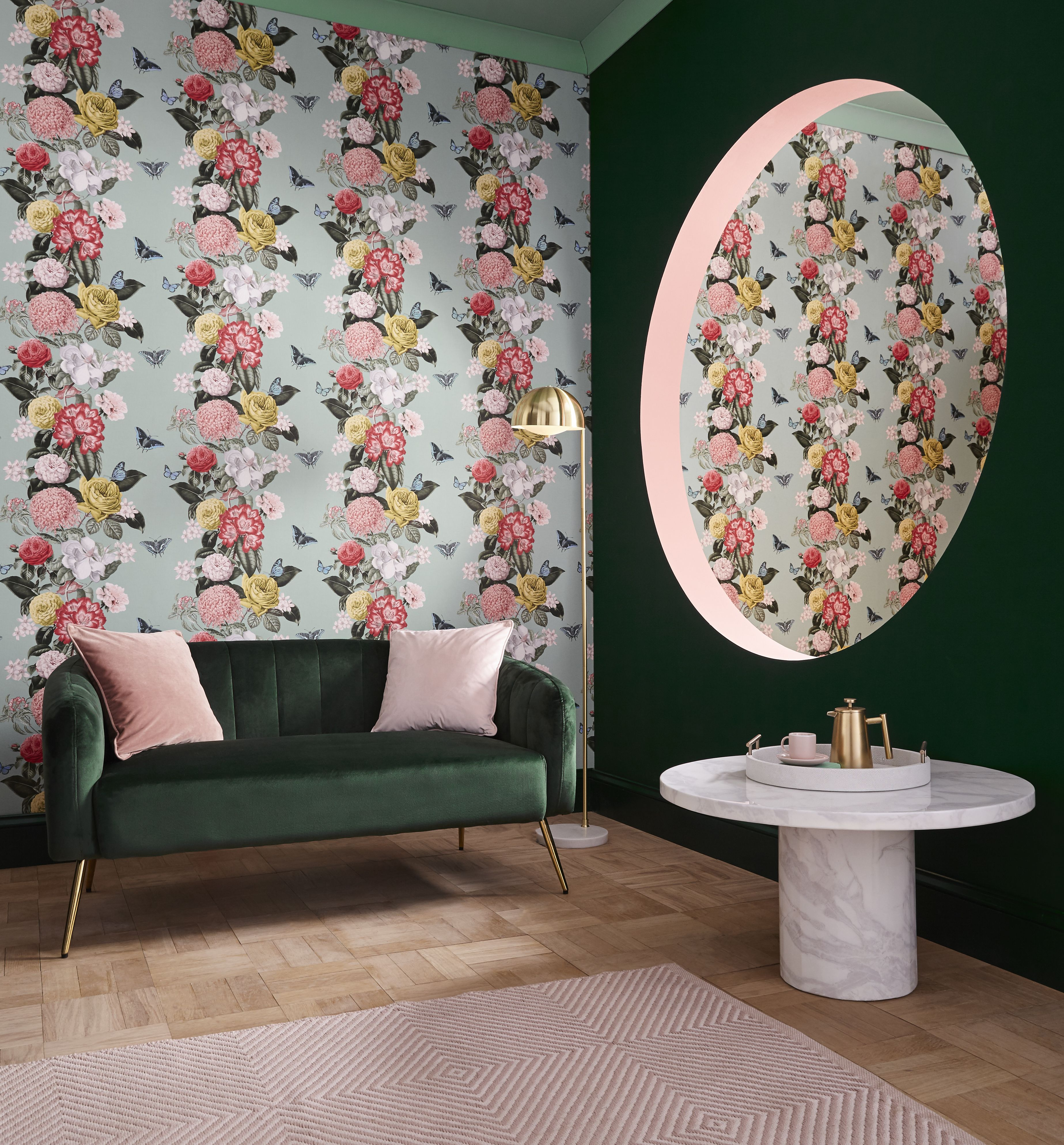Wallpaper of the year, Bloomsbury Neo Mint paired with