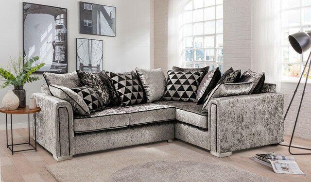 Pin By Paigesacker On Sofas In 2020 Corner Sofa Velvet Corner Sofa Crushed Velvet Sofa