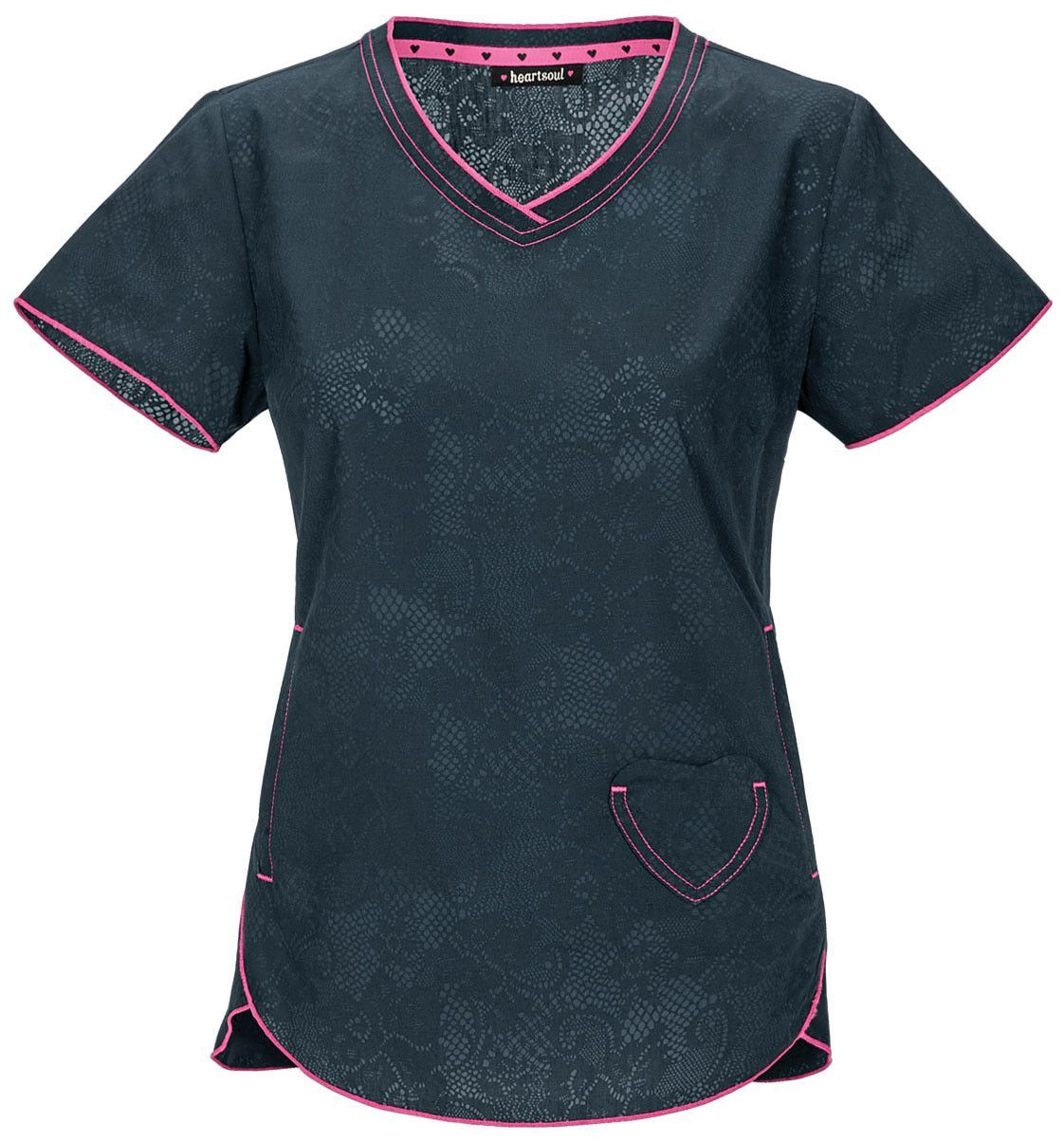 Heartsoul V-Neck Top in Lovely In Lace