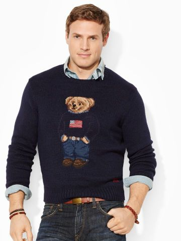 d50e6fa0aaab9d Flag Polo Bear Sweater - Big & Tall Sweaters - RalphLauren.com ...