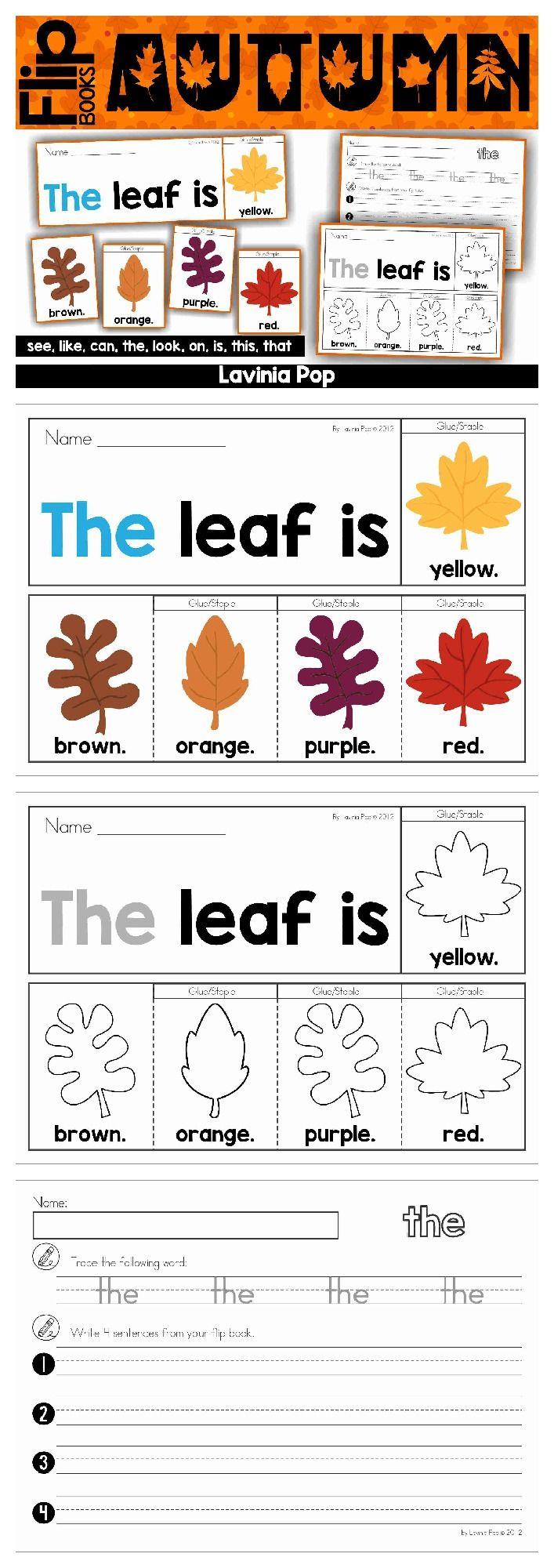 Autumn / Fall Sight Word Fluency Flip Books   Englisch-Unterricht ...