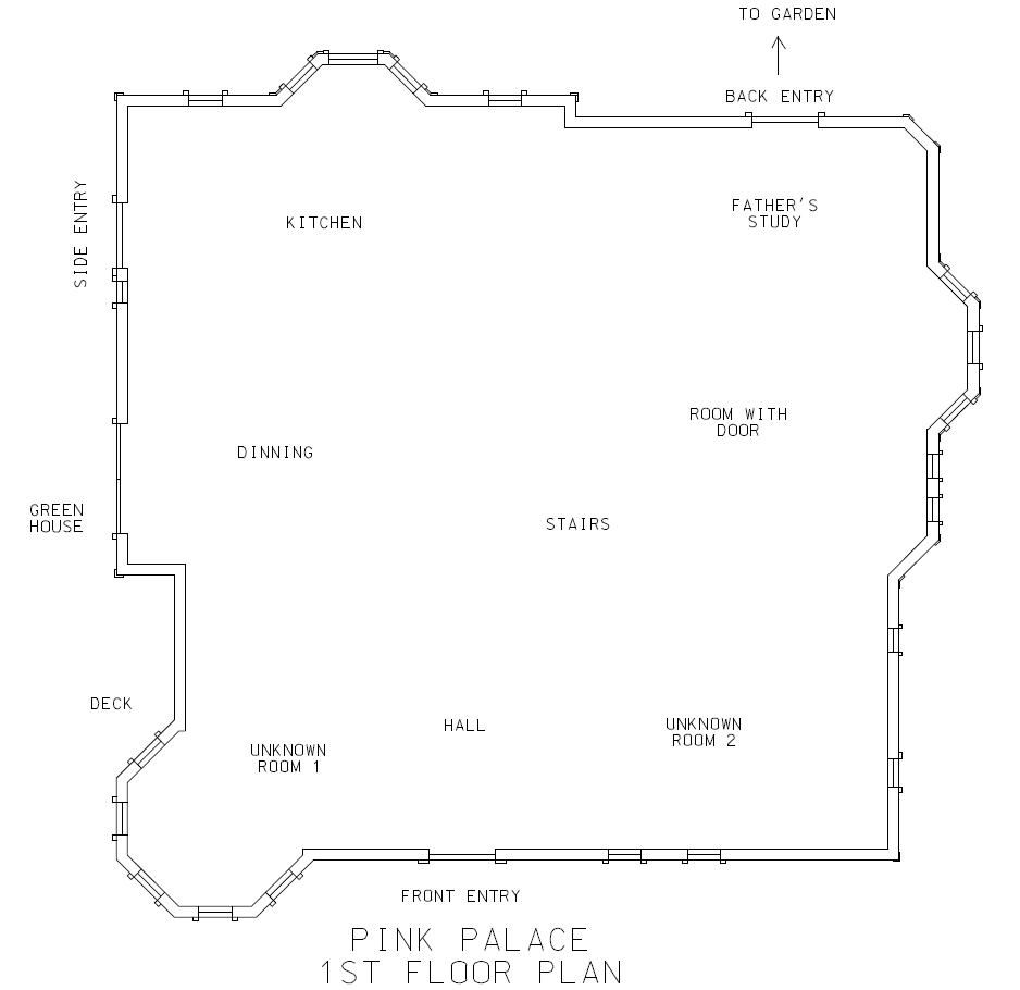 Thebreadsmasher The Pink Palace Floor Plan Ruff Draft Pink Palace Floor Plans Palace