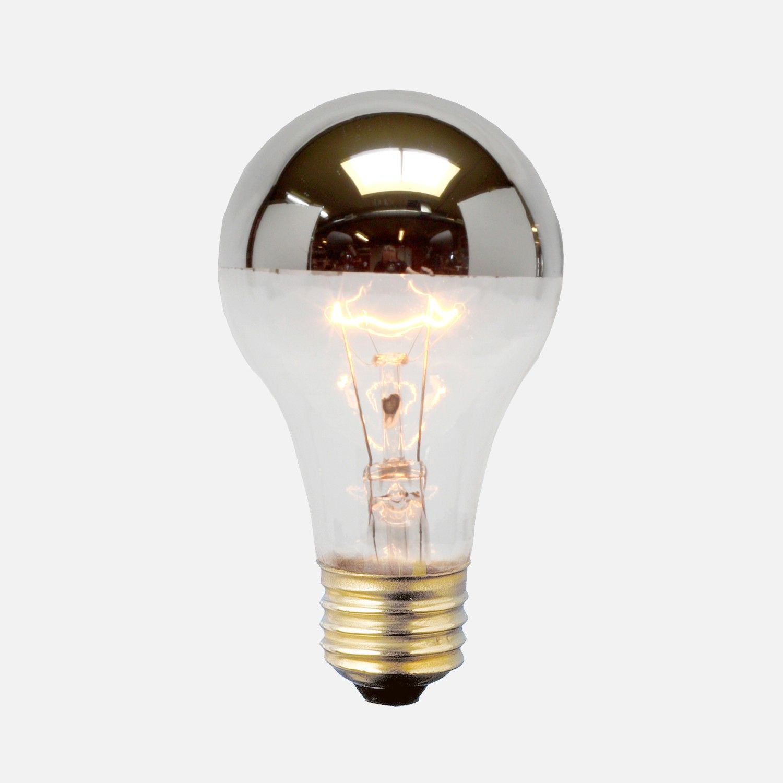 A19 Silver Tip Bulb 60 Watt Bulb Light Bulb Light Bulbs