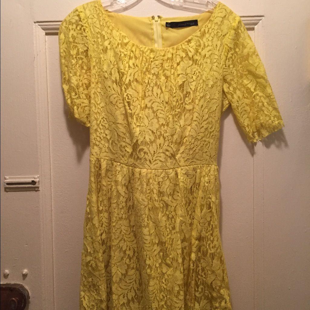 Patterson j kincaid yellow lace dress yellow lace dresses yellow