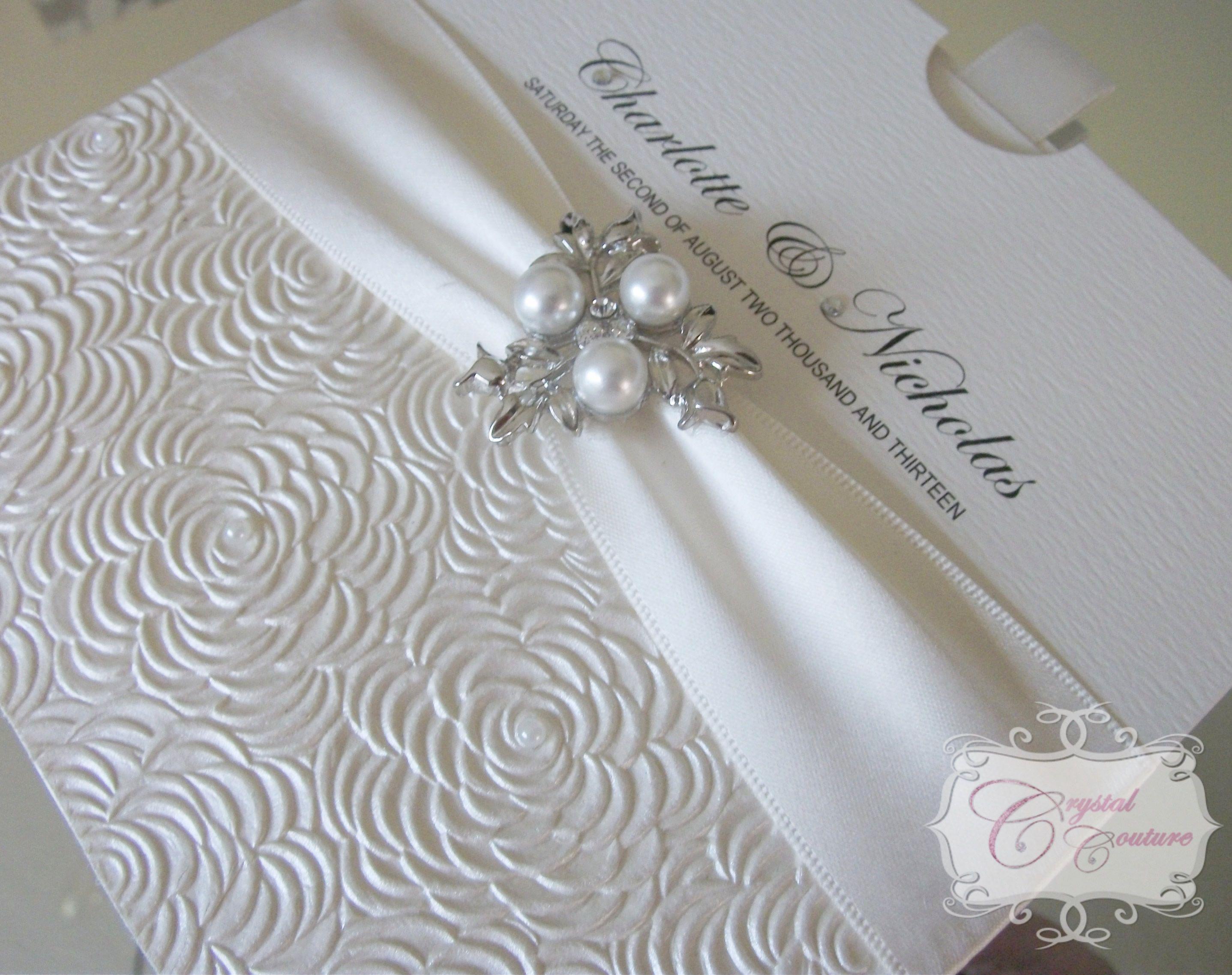 diamonds and pearls themed weddings | ... , luxury satin ribbon ...
