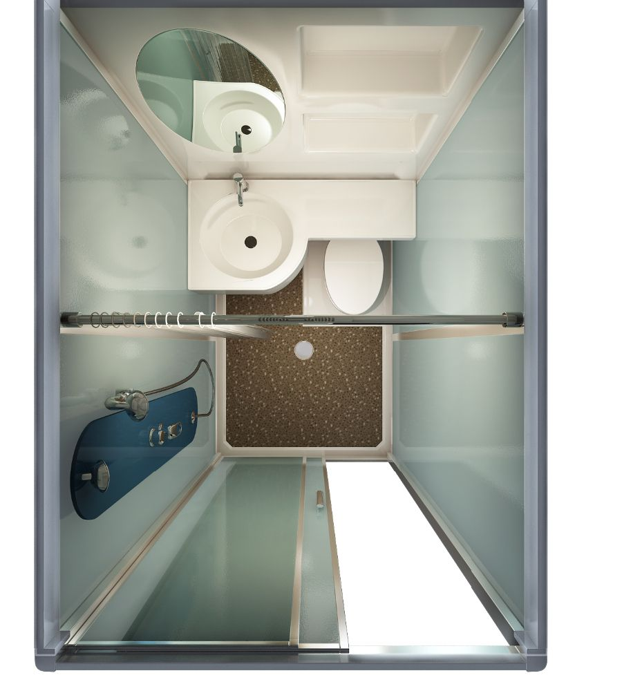 Source In Stock Sunzoom One Piece Bathroom Modular