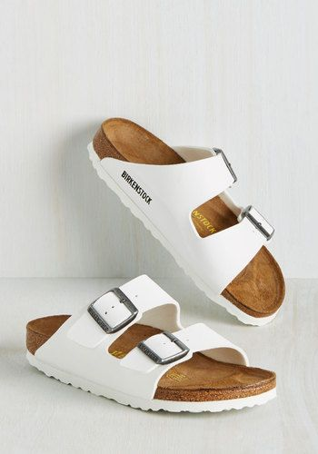 Strappy Camper Sandal in White | Mod