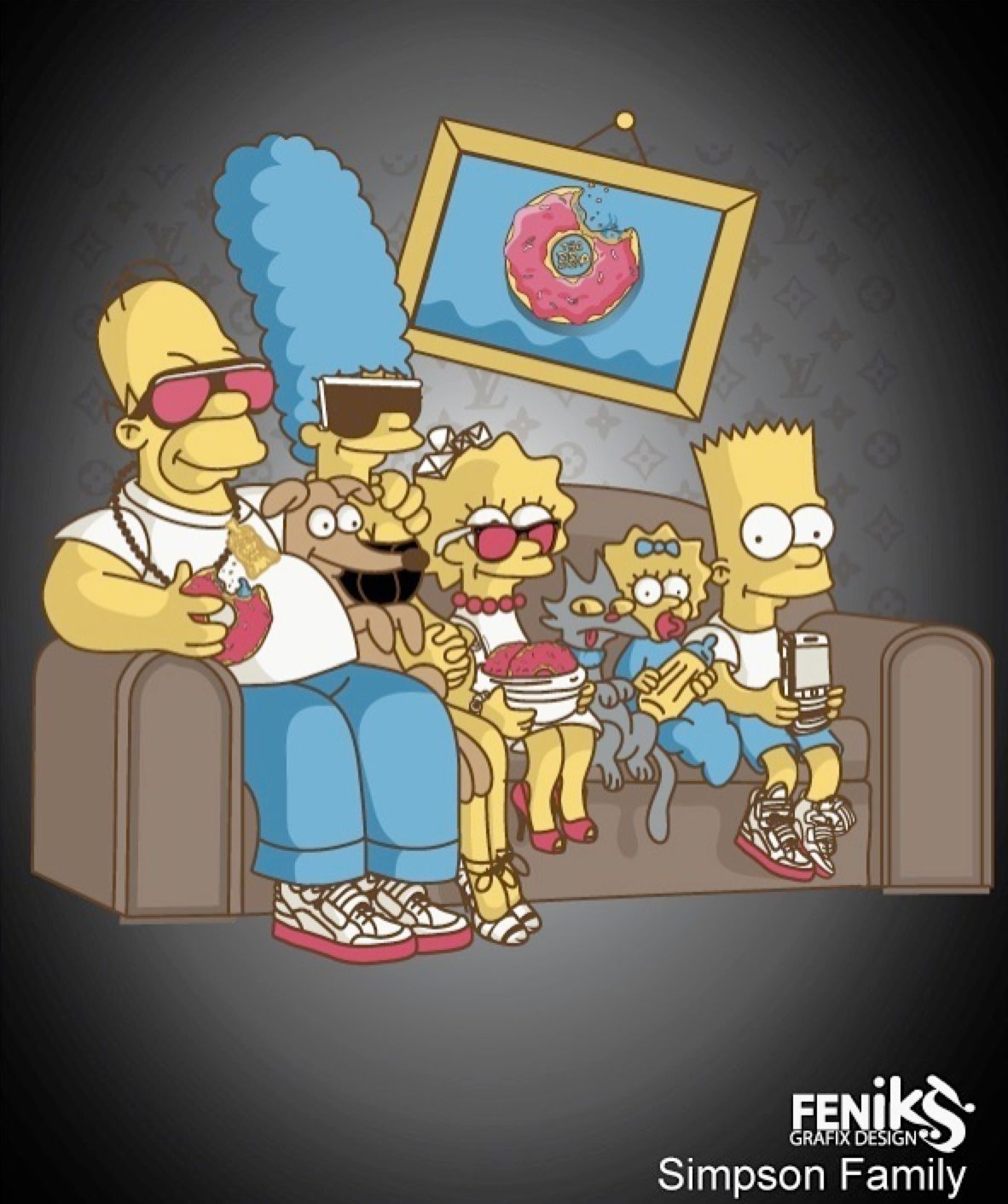 The Family Simpsons Fashion By Hosmane On Deviantart Simpsons Cartoon Bart Simpson Art 90s Cartoons