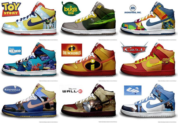 Pixar Themed Nike Shoes