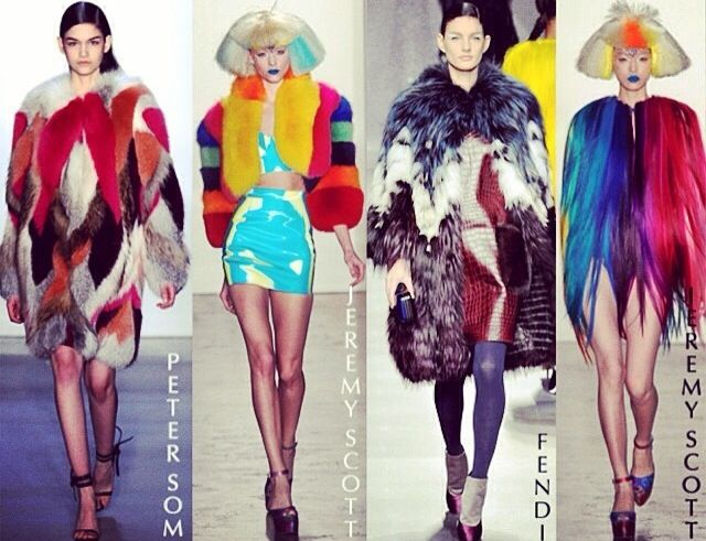 Colourful furs