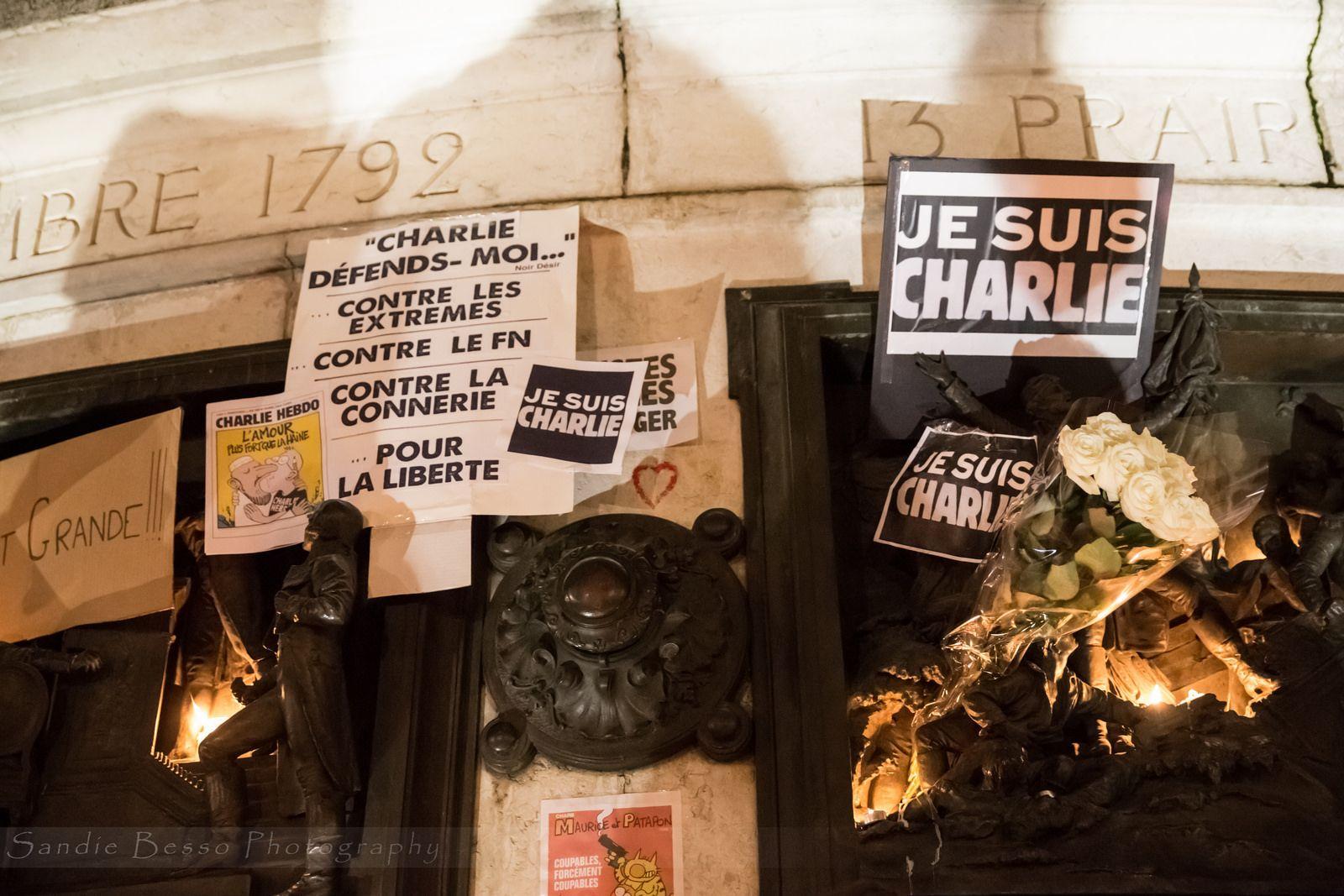 JE SUIS CHARLIE, NOUS SOMMES TOUS CHARLIE  07/01/2015 Place de la République Paris / France  by Sandie Besso Photography for any booking, professional & artistic shootings contact me : sandie.besso@gmail.com Paris / France