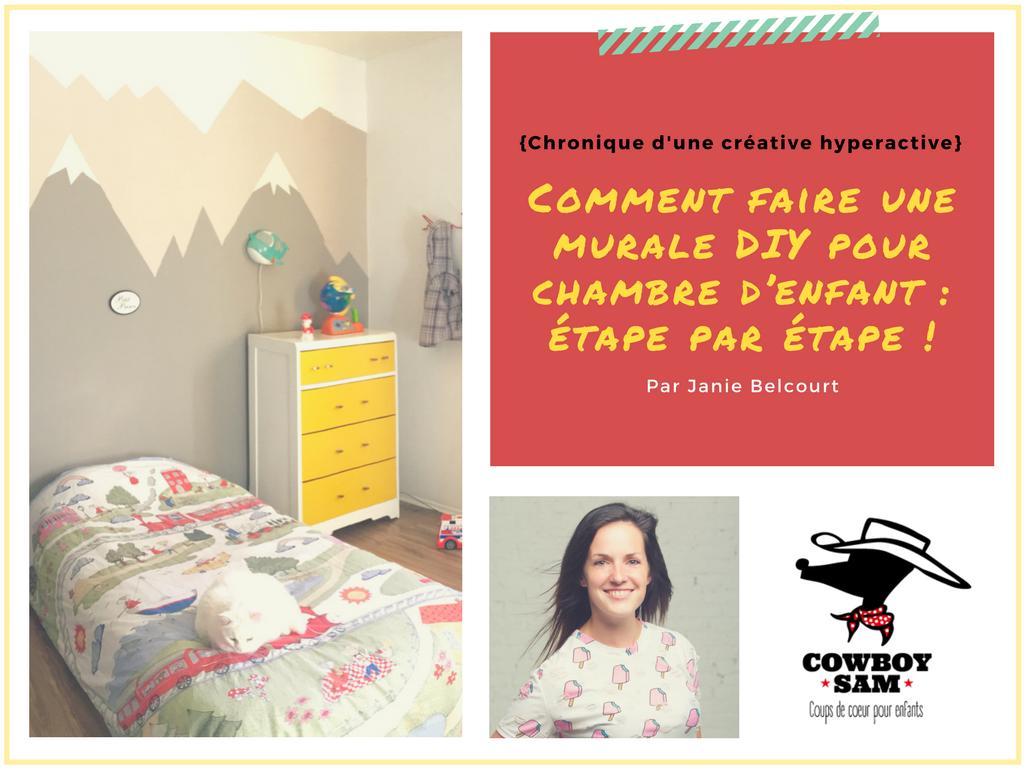 Comment faire une murale diy pour chambre d enfant tape - Comment peindre une chambre d enfant ...