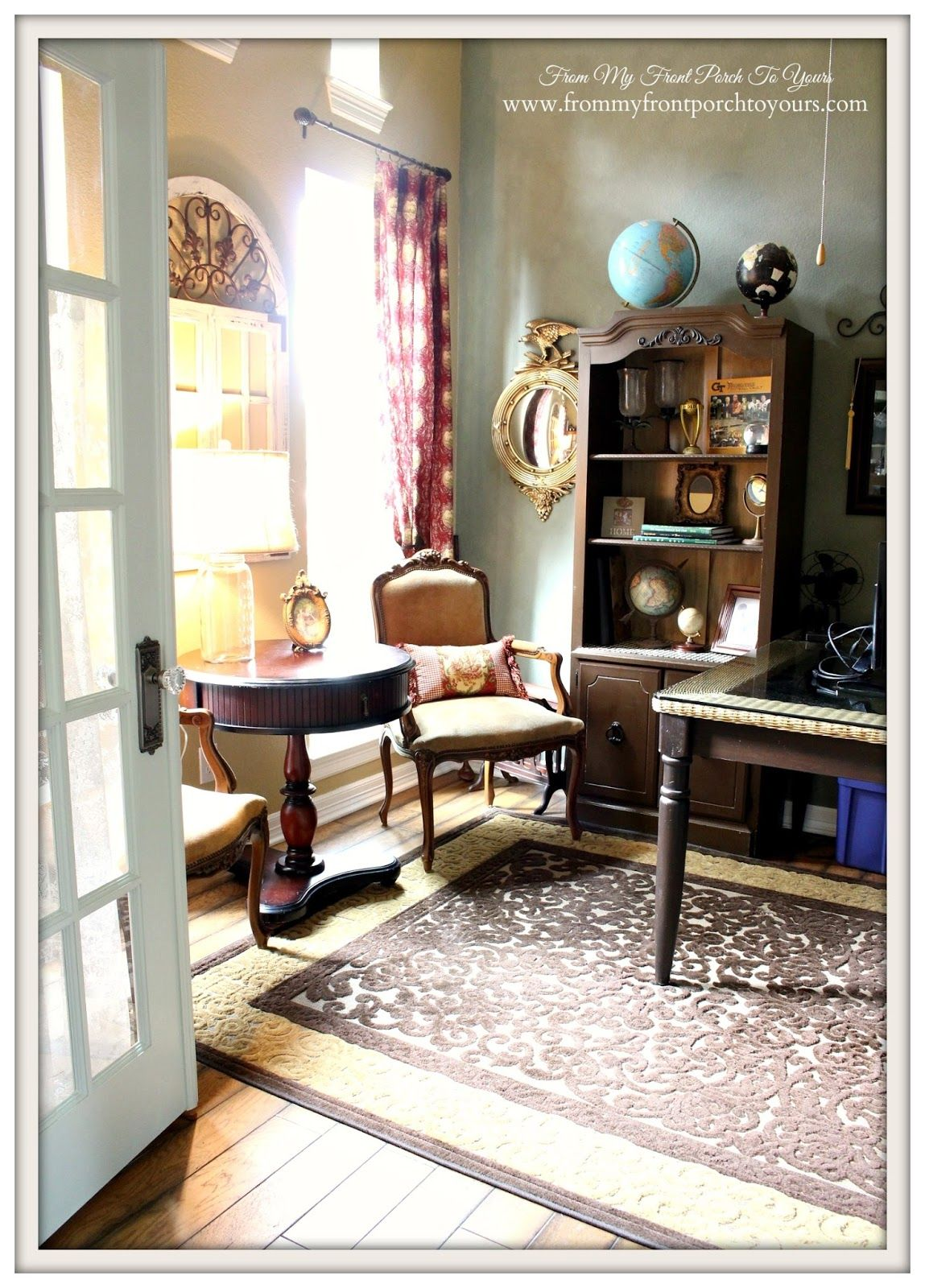 French Country Home Office House
