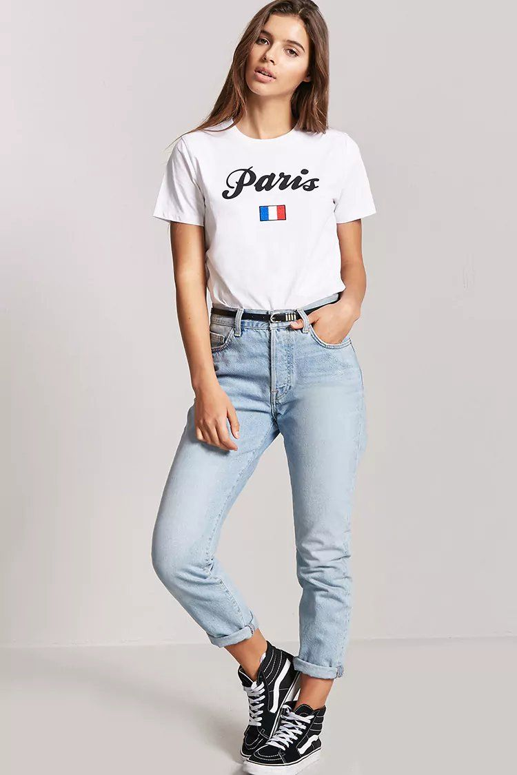 fc53a412 Paris Graphic Tee | Forever21 | forever 21 | tees in 2019 | Fashion ...