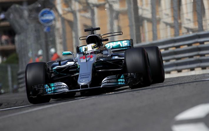 Lataa kuva Lewis Hamilton, Formula 1, Mercedes W08, F1, Mercedes AMG Petronas F1 Team