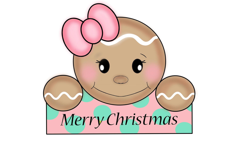 45+ Cute Gingerbread Head Clipart