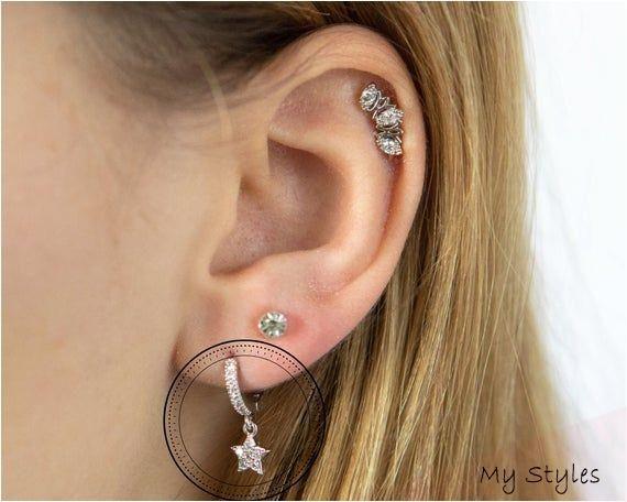 Star Mini Hoop, Cartilage Earrings, Star, Auricle Earrings, Lobe Piercing, Cartilage Piercing, Conch Earring, Auricle Piercing, Helix #home #decor #affiliate #programs