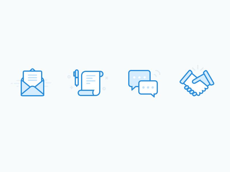 Hiring Process Icons Icon Hiring Process Pictogram
